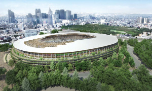 Kengo Kuma's Design Picked for the Tokyo Olympic Stadium