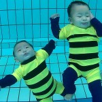 Underwater Twin Babies Josch Forbes & Joschika Faustine Inspiring You to Teach Your Babies to Swim