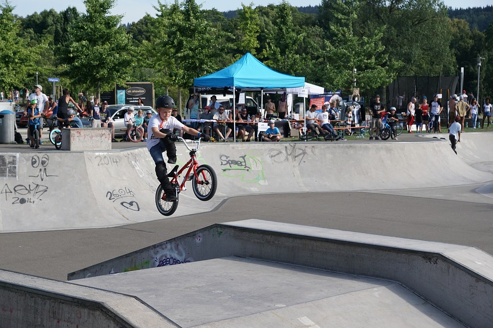bmx racing young boy
