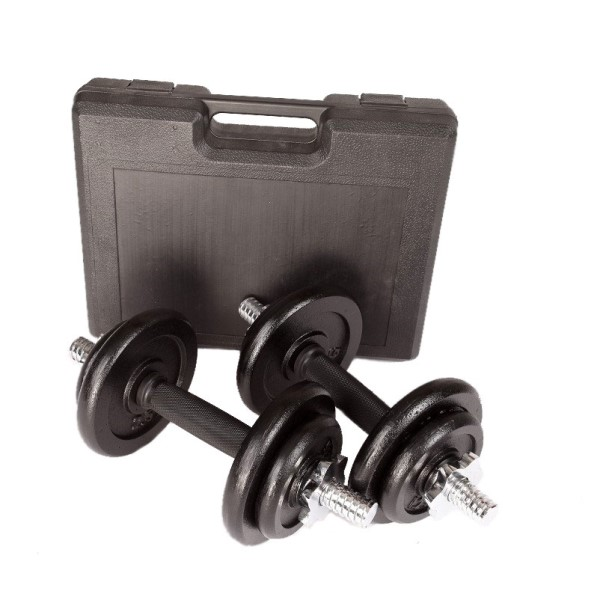 FitnessMania sportitude 20kg Dumbbell Set with Carrying Case